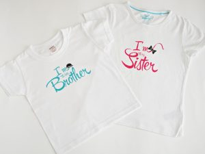 Персонализирани блузки за братче и сестриче