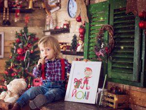 Коледен Елф персонализиран принт в рамка