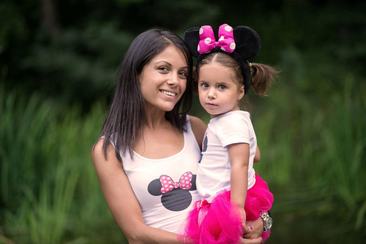 Minnie Mouse дизайнерски блузки за майка и дъщеря
