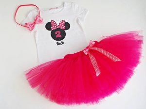 Minnie Mouse туту комплект за рожден ден в розово