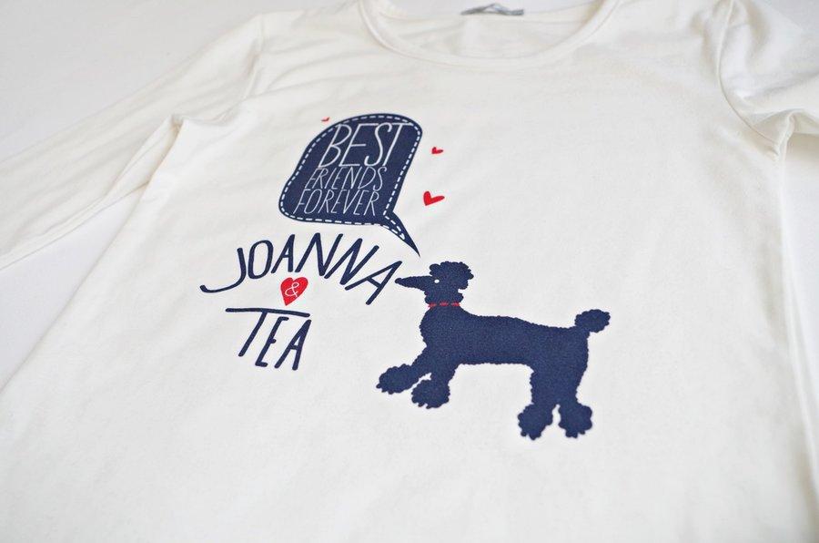 Персонализирана блуза - Добри приятелки - Синьо Куче