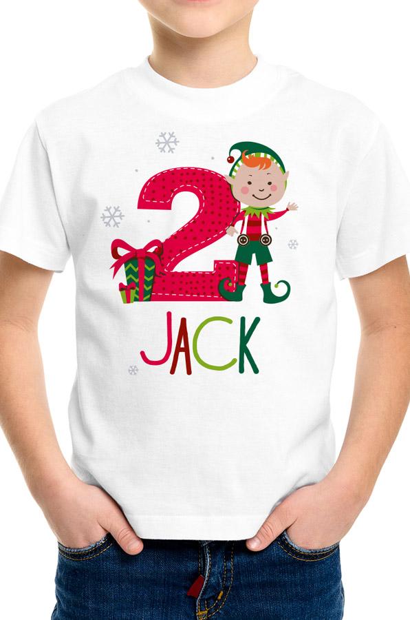 Персонализирана блузка за рожден ден с Коледен Елф