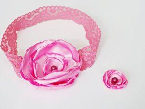 Детски аксесоар за коса Розов Свят