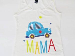 Весела кола - персонализирана тениска за майки