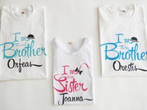 Голям брат и малка сестра блузки за деца