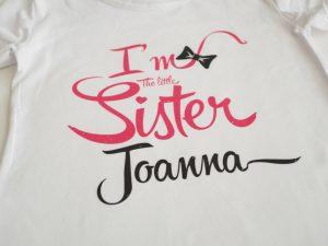 Персонализирана блузка малка сестра