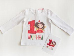 Детска блузка коледна фея за момичета