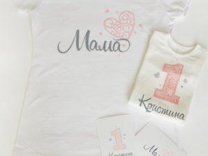 Блузка за мама Розови сърца