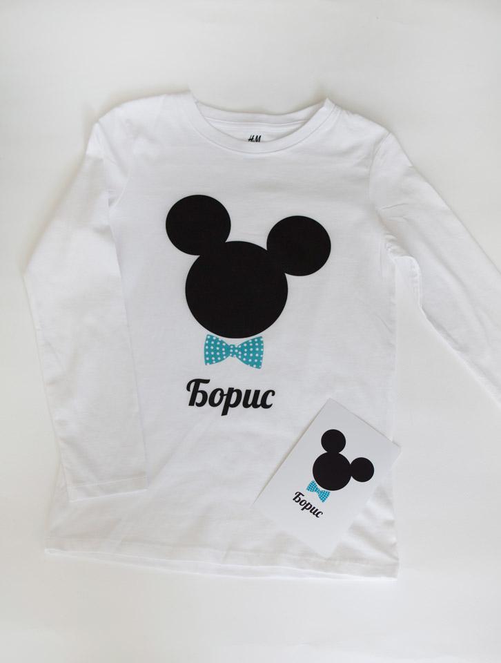 Мики маус блузка с име за деца