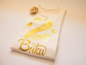 Златна персонализирана блузка за момичета