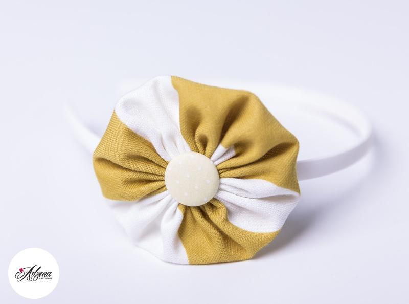 Диадема в цвят горчица