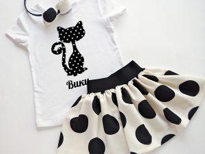 комплект пола и блузка Коте -персонализиран с име