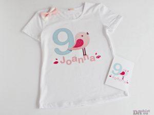 Персонализирана блуза за рожден ден Розово птиче
