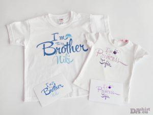 Блузки за брат и сестра с имена