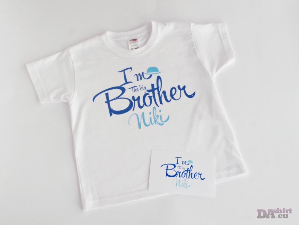 Детска блузка с надпис голям брат | Big Brother