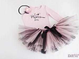туту комплект малка принцеса в розово и черно