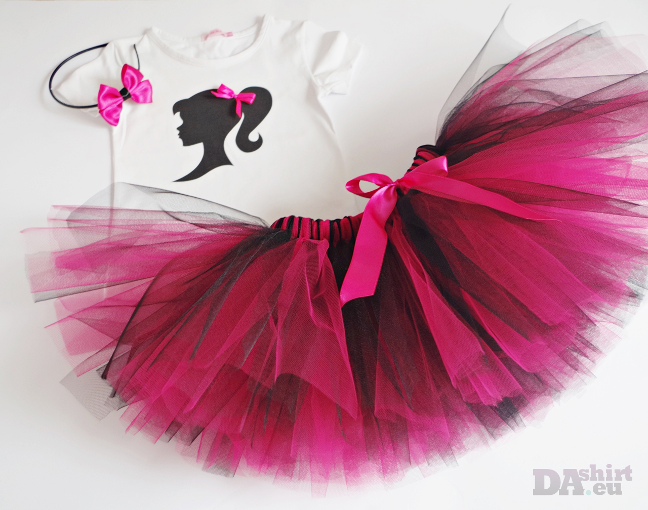 Туту сет Барби за рожден ден в Розово и черно