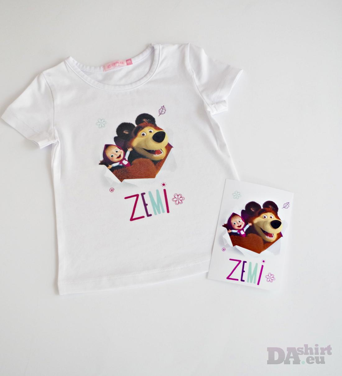Детска блузка Маша и Мечока