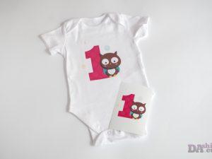 Бебешко боди за рожден ден Бухалче