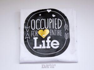 Блуза със смешно послание Occupied