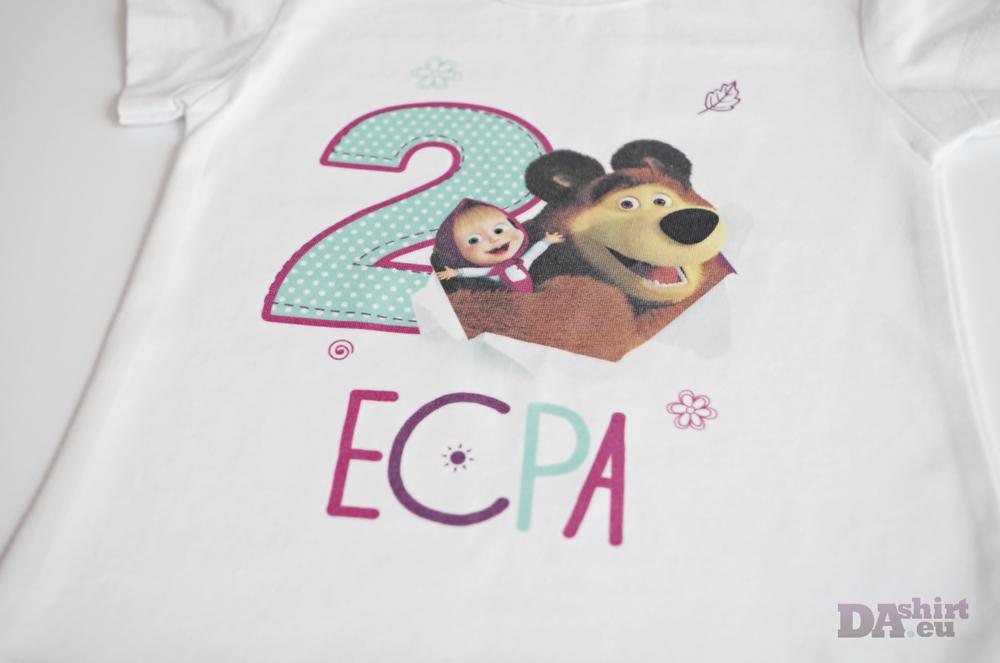 Маша и мечока детска блуза с име