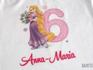 Детска блуза за рожден ден с принцеса Рапунцел