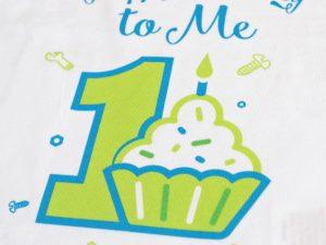 бебешка блуза за първи рожден ден с кексче