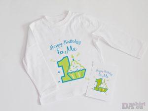 блуза за детски рожден ден с кексче