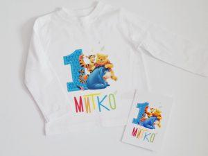 Персонализирана детска блуза за рожден ден Мечо Пух