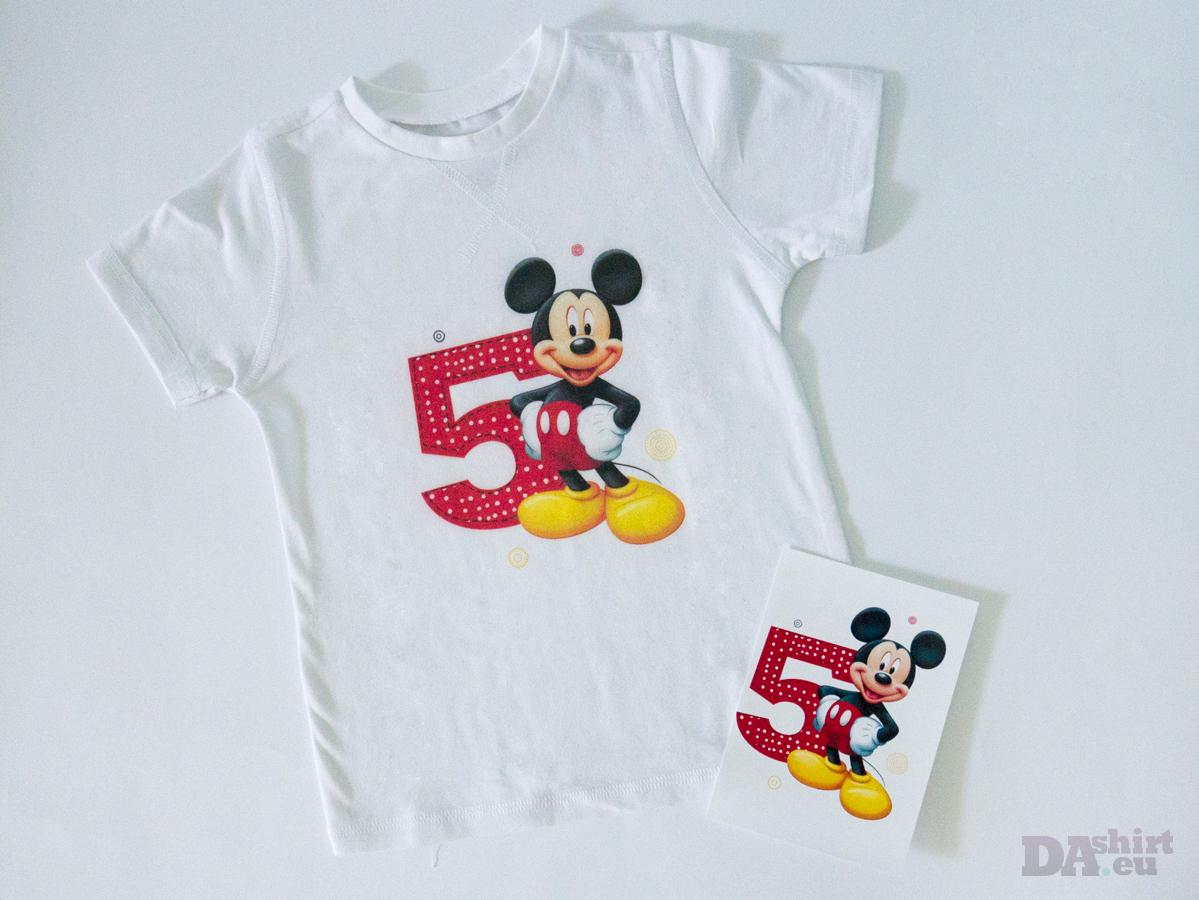 детска блузка за рожден ден Mickey Mouse