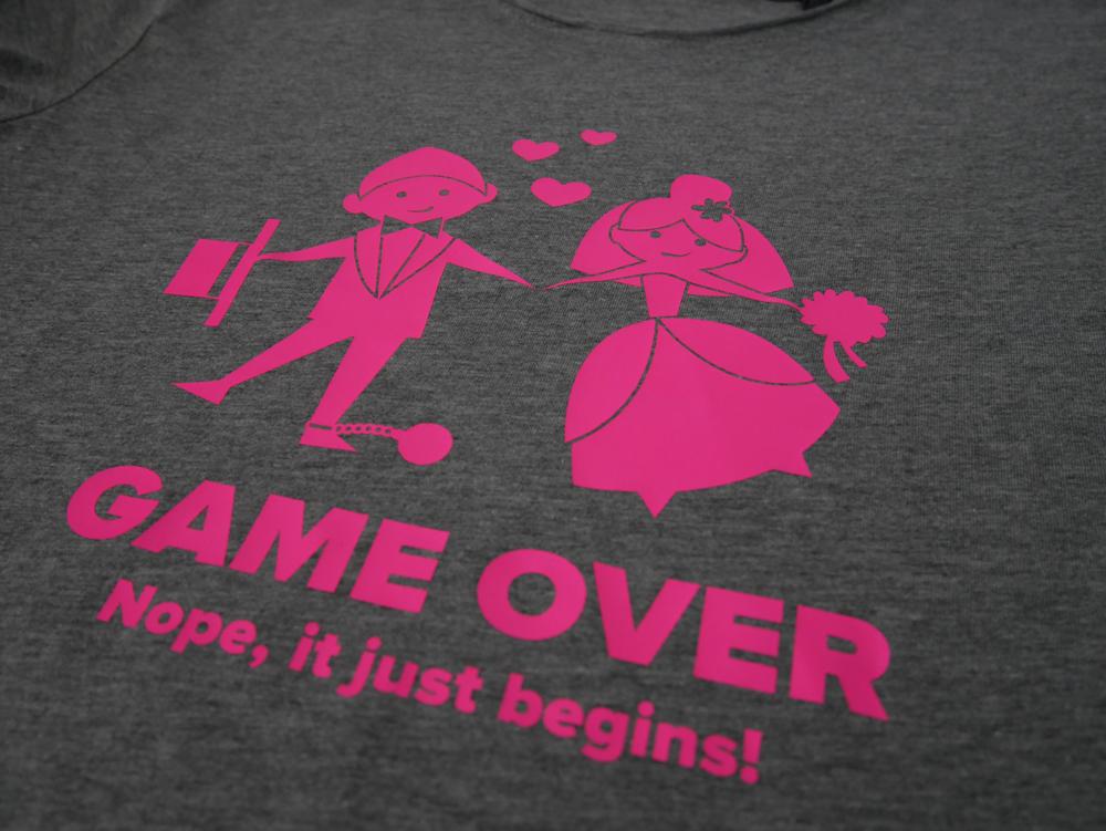 Game Over - дамска тениска за моминско парти