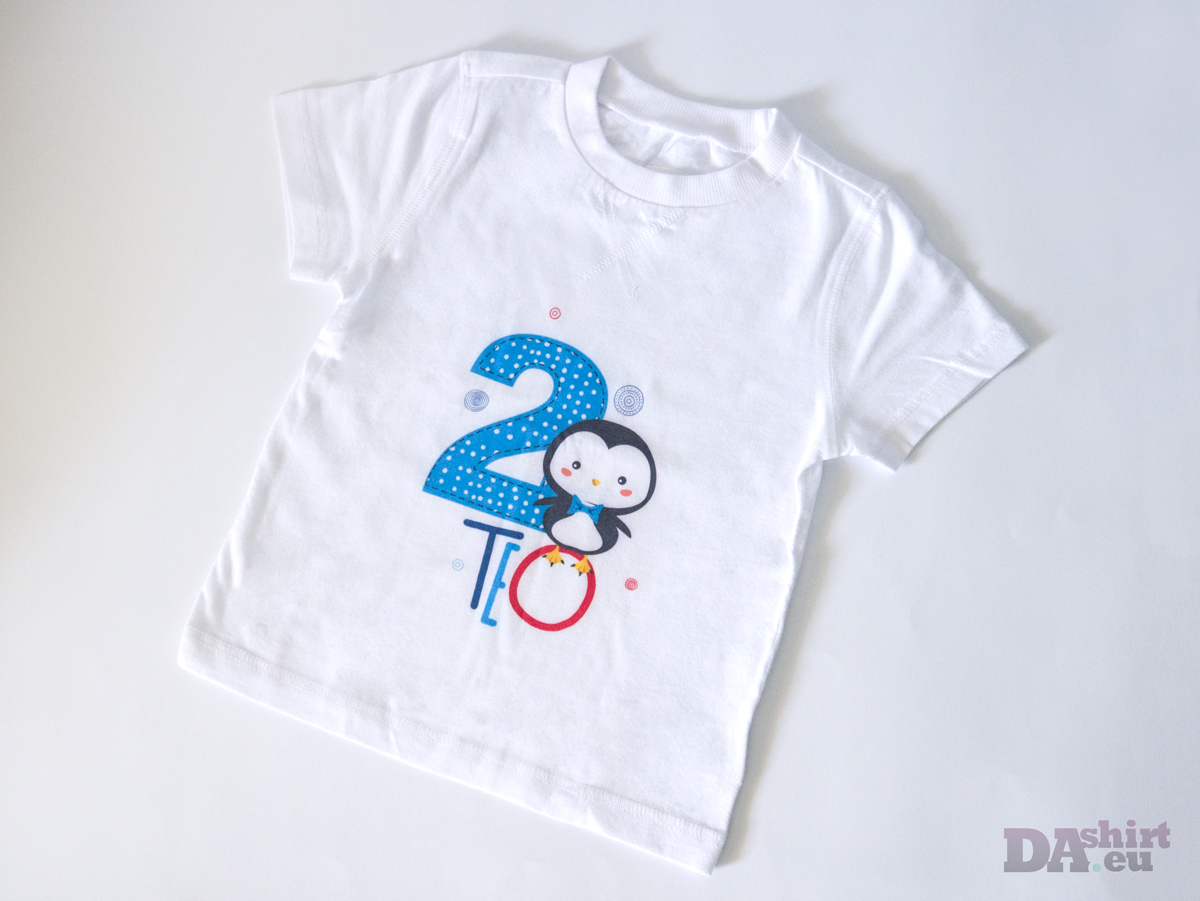 Персонализирана детска блуза синьо Пингвинче