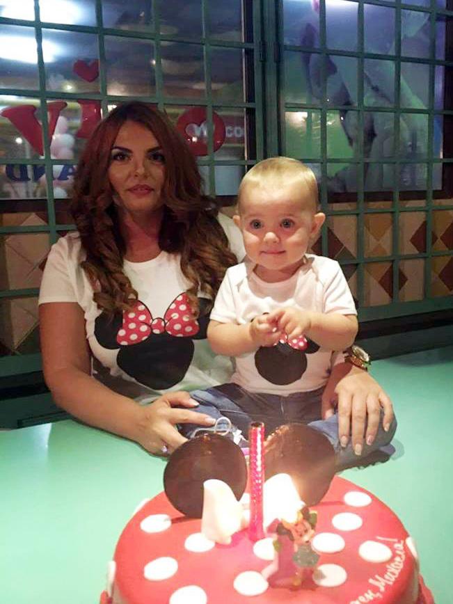 Блузки за майка и дете мини маус в червено