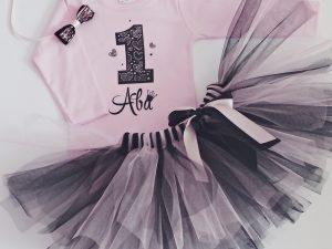 Комплект сърца в Розово и черно за рожден ден