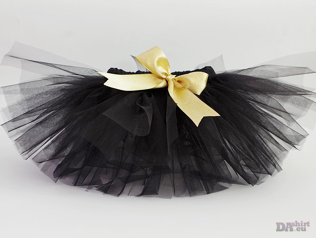 Черна туту пола със златна пандела