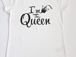 Блуза с щампа I am the Queen