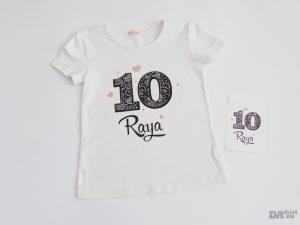 Тениска за рожден ден Черни сърца