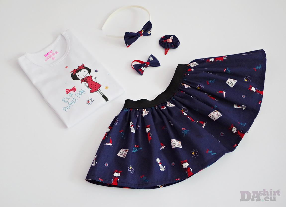 Детски комплект Perfect Day пола и блузка с надпис