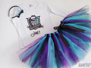 Туту сет Monster High в лилаво и тюркоаз