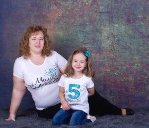 Блузи с име за майка и дъщеря Birthday Girl