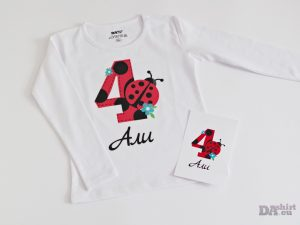 Детска блуза с калинка с име и годинки