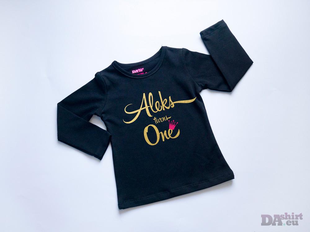 Детска тениска за рожден ден Turns One