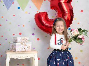 Комплект за момичета попа и блузка с принт червената шапчица