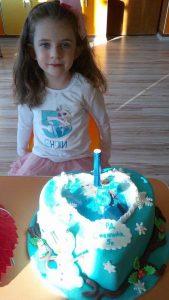 Снежи с блуза принцеса Елза с име и годинки