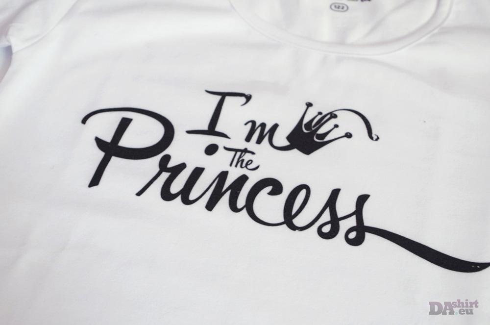 Тениска с надпис I am the princess
