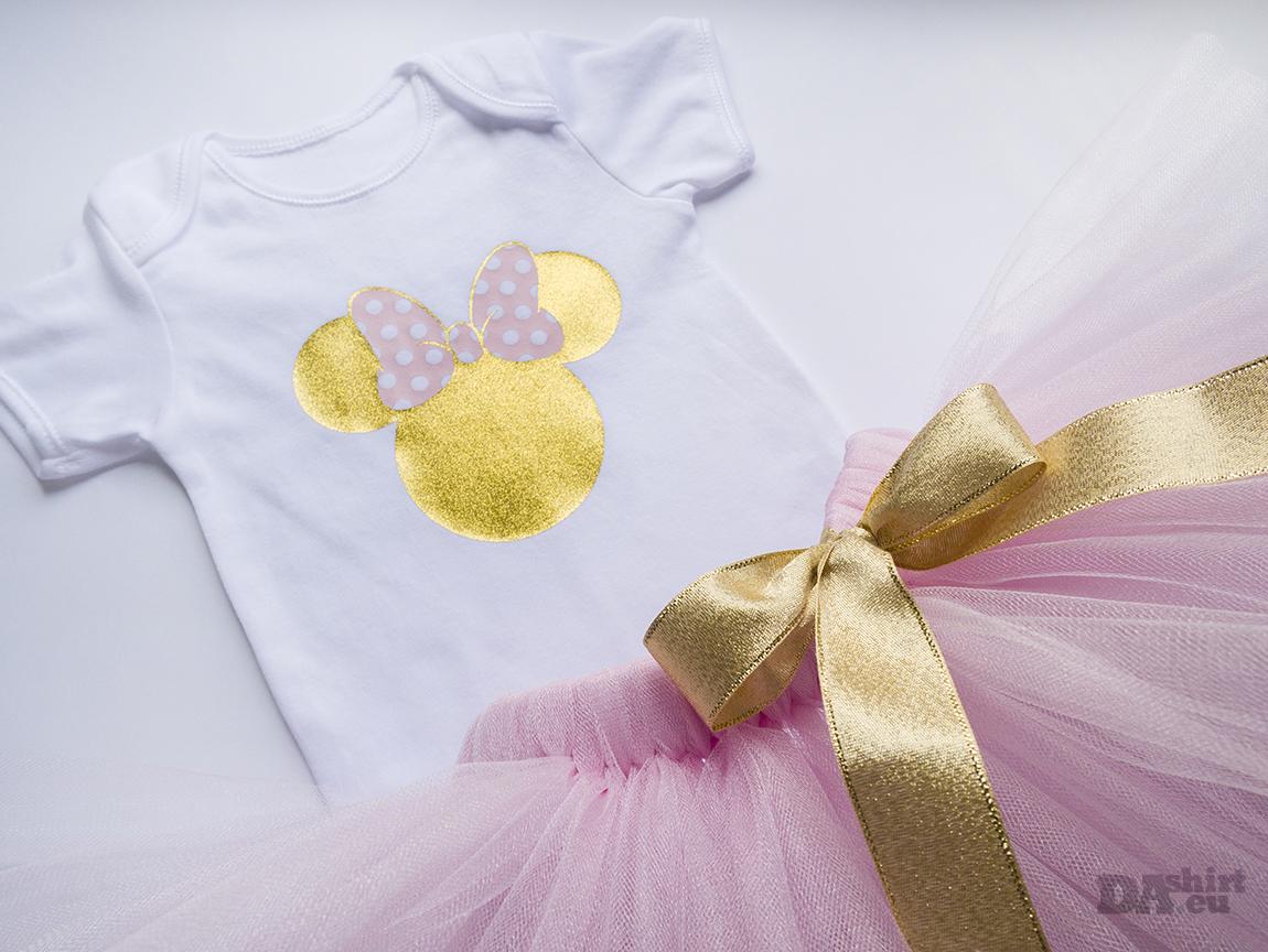 бебешки сет Minnie Mouse в златно и розово