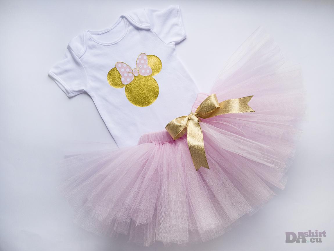 Комплект Minnie Mouse в златно и розово