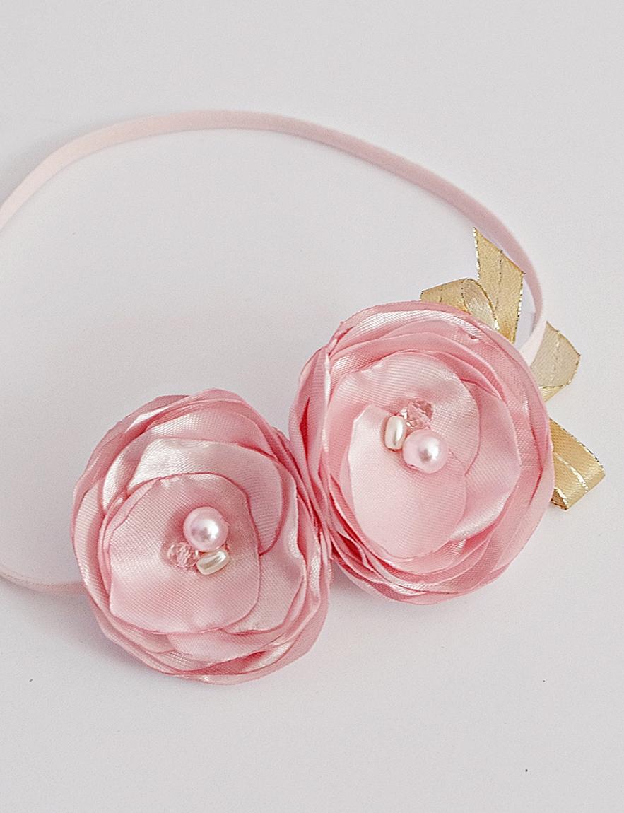 бебешка лента за глава в розово и златно