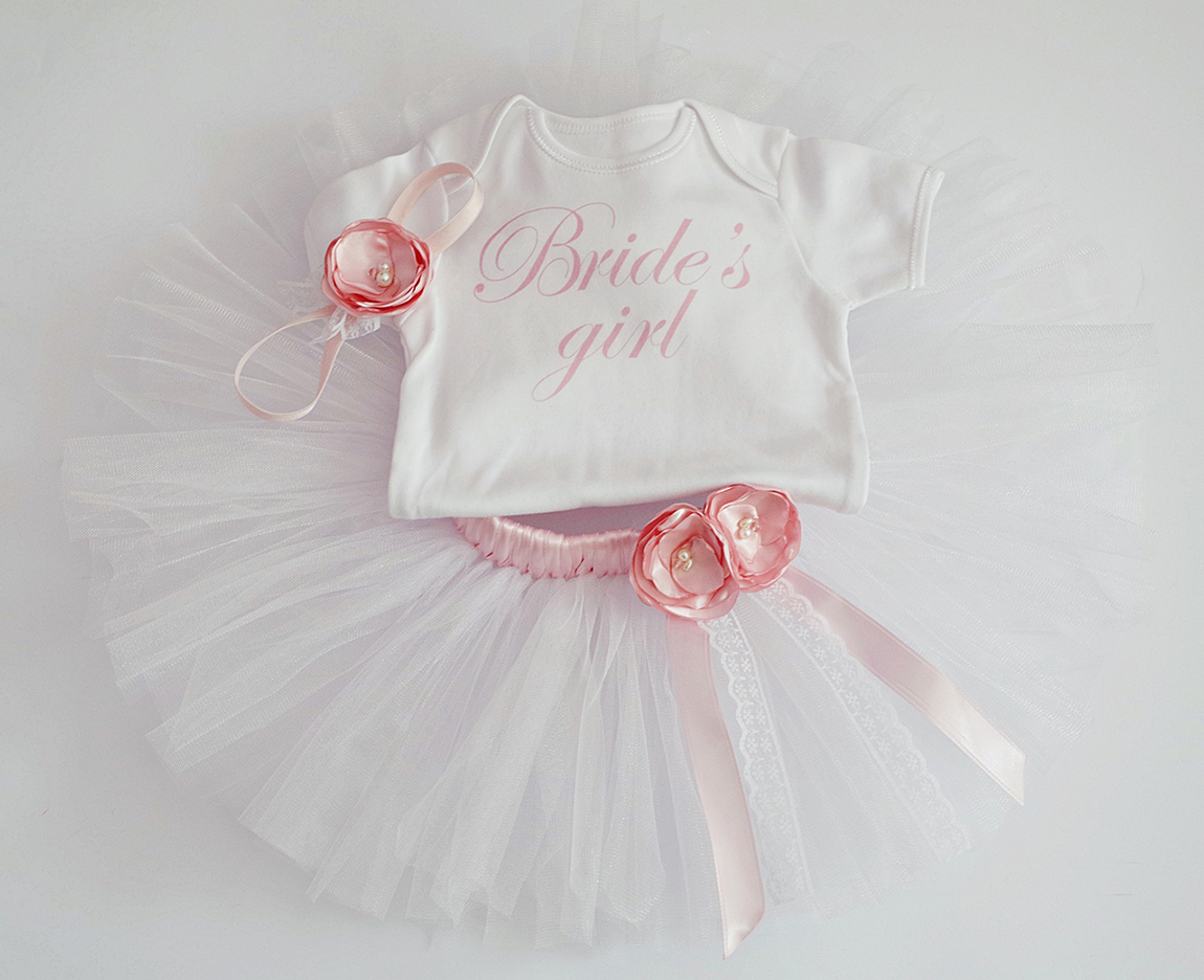 Туту комплект шаферка с надпис Brides Girl