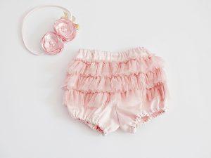 панталонки с къдрички от тюл тип furrly pants | ruffle shorts
